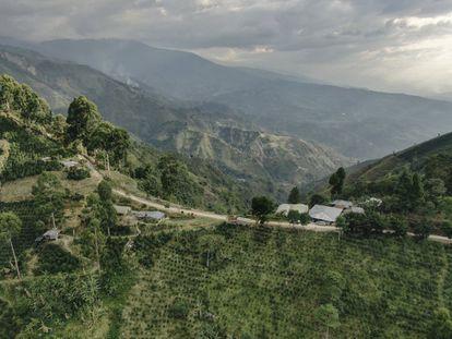Vista panorámica del Huila, municipio del sur de Colombia.