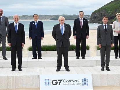 Los presidentes de los países del G-7 en la cumbre de este fin de semana.