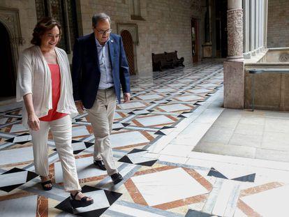 Ada Colau y Quim Torra en una reunión reciente.