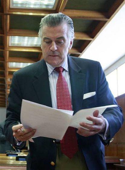 Luis Bárcenas, durante una comisión en el Senado.
