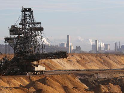 Una mina de carbón a cielo abierto cerca de Colonia (Alemania).