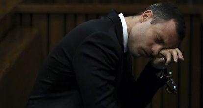 Pistorius durante la sesión del juicio en Pretonia.
