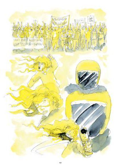 Una página de 'He visto ballenas', de Javier de Isusi.