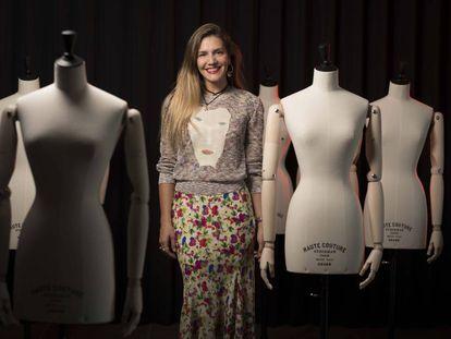 Margherita Missoni fotografiada la semana pasada en la escuela de moda ISEM, de la Universidad de Navarra en Madrid.