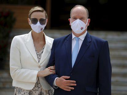 Alberto y Charlene de Mónaco, el 2 de junio de 2020 en Mónaco.