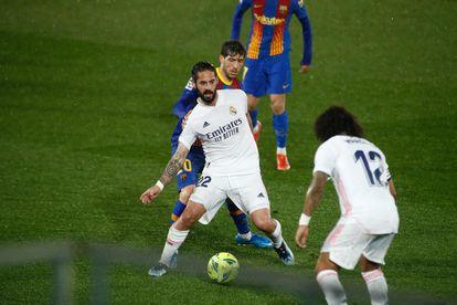 Isco y Marcelo, el pasado sábado contra el Barcelona.
