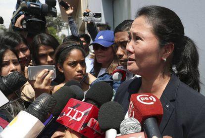 Keiko Fujimori, hija del autócrata, el miércoles.