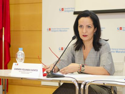Yolanda Fuentes, en mayo, cuando aún era directora general de Salud Pública.