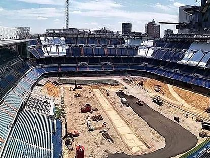 Estado de las obras del Bernabéu.