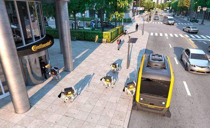 'Render' del proyecto de entrega automatizada de Continental.