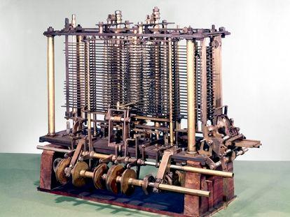 La máquina analítica concebida por Charles Babbage.
