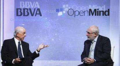David Birch conversa con Francisco González, presidente del BBVA, con motivo de la presentación del libro antes citado