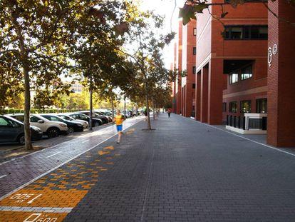 Figuración virtual del circuito por el distrito universitario de Tarongers en Valencia. / AYUNTAMIENTO