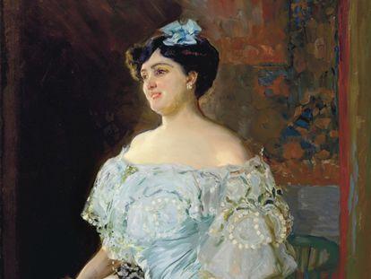 'Retrato de la tiple Isabel Bru' (1904), realizado por Joaquín Sorolla.