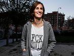 DVD1045. Monica García, candidat a la comunidd por Mas Madrid el parque de Peñuelas Alvaro Garcia. 16/03/2021