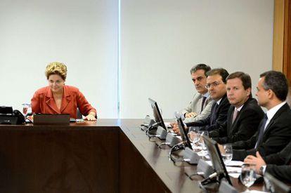 Una reunión de Rousseff con congresistas