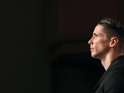 Fernando Torres, en su despedida del fútbol profesional, el 23 de junio de 2019.