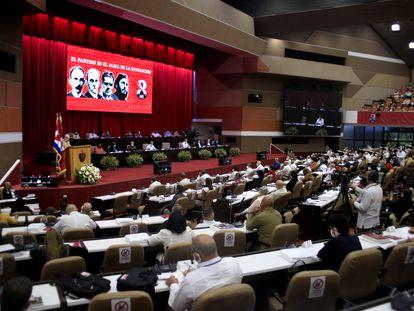 Participantes del VIII Congreso del Partido Comunista de Cuba.