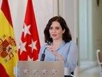 La presidenta de la Comunidad de Madrid anuncia el adelanto electoral.