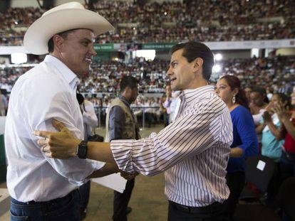 El exgobernador Roberto Sandoval y el expresidente Enrique Peña Nieto, en mayo de 2016.