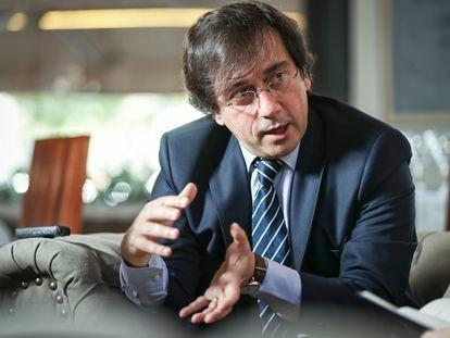 José Manuel Albares, durante una entrevista en julio de 2019, cuando estaba en La Moncloa.