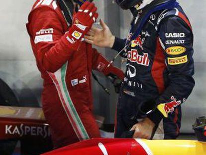 Alonso y Vettel, en Singapur.