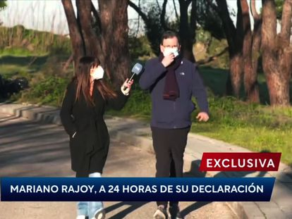 Mariano Rajoy, con la reportera de 'Las cosas claras'.