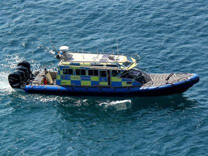 La patrullera de Gibraltar implicada en el accidente con la lancha española, la 'Sir John Chapple', en una imagen de archivo