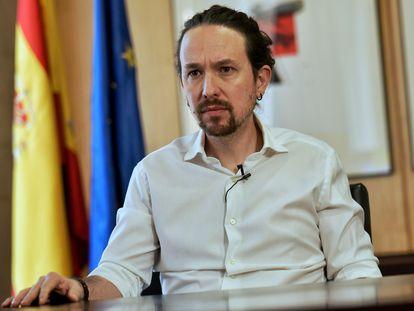 Iglesias, en el vídeo en el que ha anunciado la candidatura este lunes.