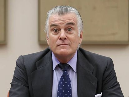 Luis Bárcenas en la comisión de investigación sobre la financiación del Partido Popular.