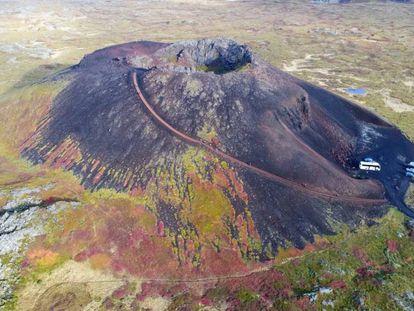Volcán Saxhóll en Islandia.