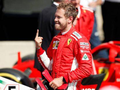 Vettel, tras ganar en Silverstone.