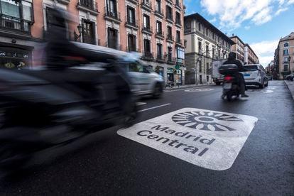 Un tramo de la calle Mayor, zona de Madrid Central.