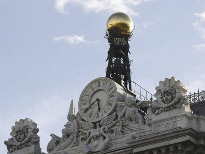 Reloj de la sede del Banco de España, en una imagen de archivo.