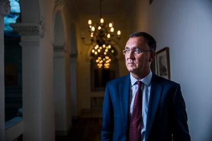 Fernando Rodríguez Rey, en la sede de la Fiscalía General del Estado, en Madrid, esta semana.