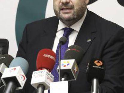 El presidente del sindicato de funcionarios CSI-F, Miguel Borra, durante una rueda de prensa. EFE/Archivo