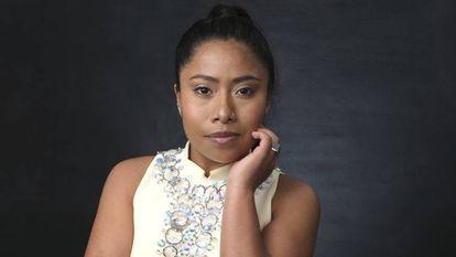 Yalitza Aparicio, retratada el pasado 4 de febrero en Los Ángeles en el almuerzo de los nominados a los Oscar. En vídeo, entrevista a las actrices de la película.