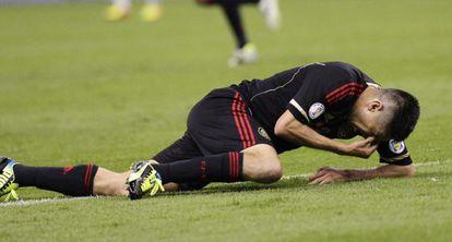Oribe Peralta, tras concluir el partido.