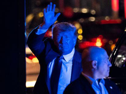 Donald Trump, el pasado domingo en los alrededores de la Torre Trump en Nueva York