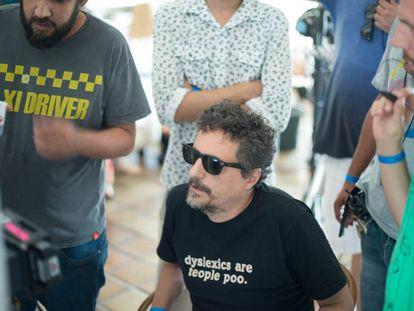 Kleber Mendonça durante el rodaje de 'Aquarius'.