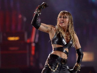 Miley Cyrus, durante una actuación en Las Vegas (EE UU) este mes.