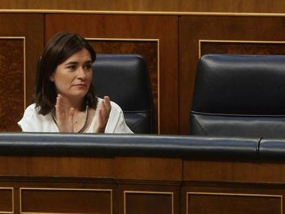 La exministra de Sanidad Carmen Montón, en el Congreso de los Diputados