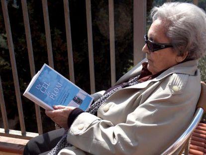 Neus Català, ayer, en Els Guiamets, en la presentación de la novela sobre su vida.
