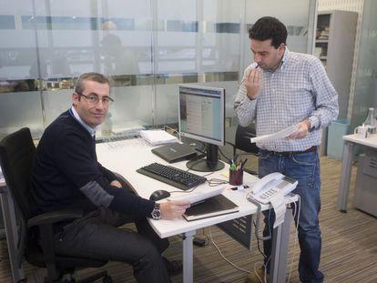 Markel Olano, diputado general de Gipuzkoa, junto a Imanol Lasa, en una imagen de archivo.
