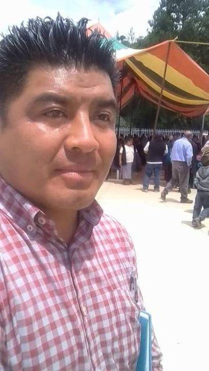 El alcalde de astacinga, Antonio Ramírez Itehua.