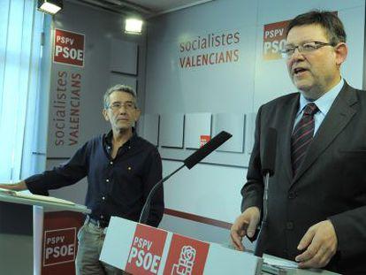 Ximo Puig, líder de los socialistas valencianos, en la sede del partido.