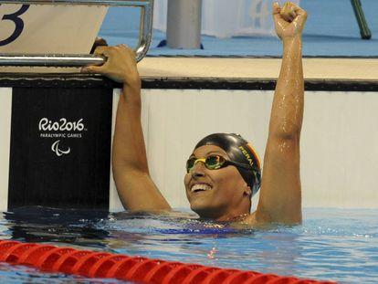 La nadadora Teresa Perales en los Juegos Paralímpicos de Río.