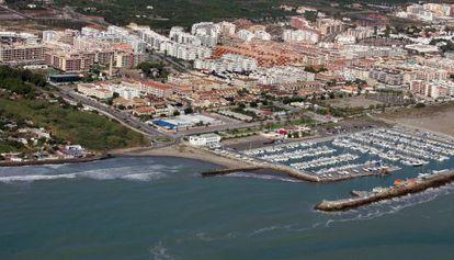 Vista aérea de urbanizaciones en Canet d' en Berenguer en una imagen de archivo.