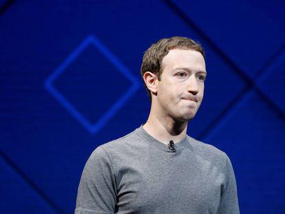 Zuckerberg, en una conferencia en abril de 2017