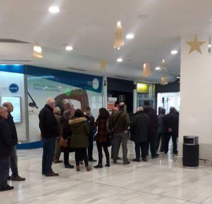 Una oficina de Correos en Madrid, este miércoles.